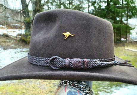 Braided leather hatband